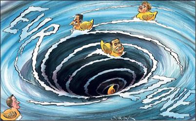 Eurozone debt crisis cartoon